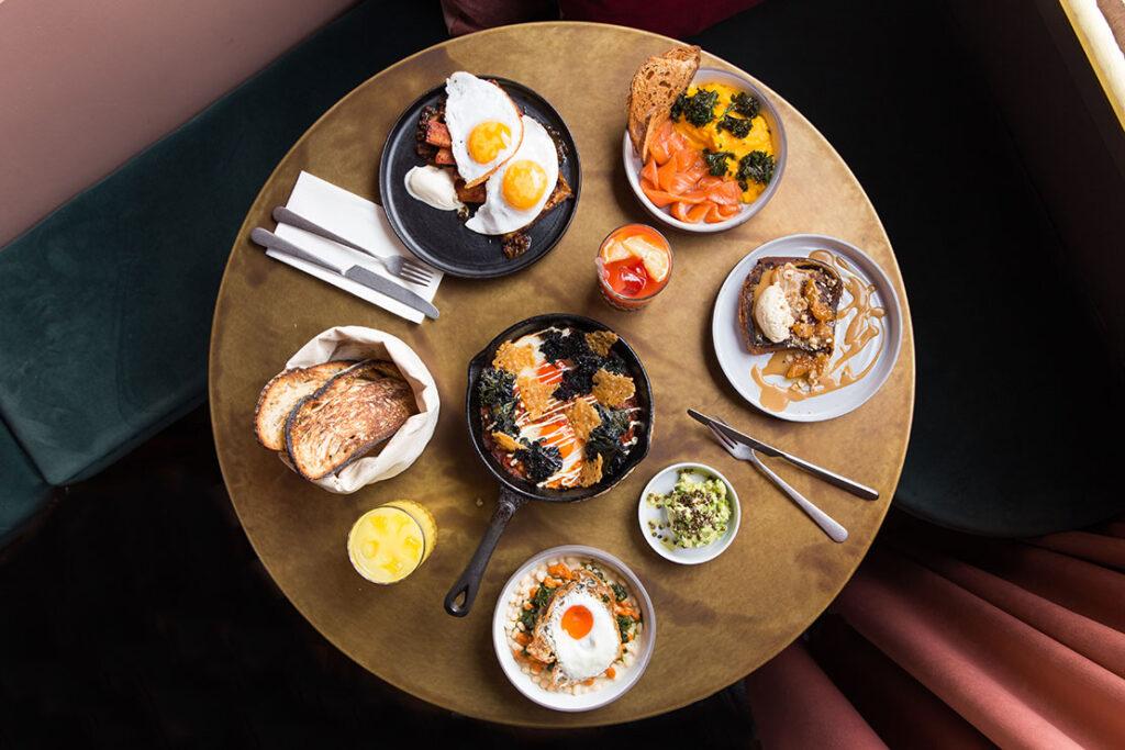 A fully set meal at Kudu
